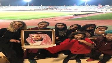 عائلات اللاعبين الأجانب يعبرون عن حبهم لـ ولي العهد في مباراة اليوم - صحيفة صدى الالكترونية