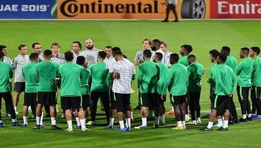 بالصور..استعدادات الأخضر لمواجهة منتخب قطر - صحيفة صدى الالكترونية