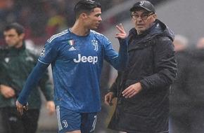 مشادة رونالدو وساري تعكر صفو تأهل يوفنتوس الأوروبي - الرياضة