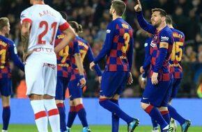 هاتريك ميسى يقود برشلونة للفوز على مايوركا وصدارة الليجا من جديد - كايرو ستيديوم - الرياضة