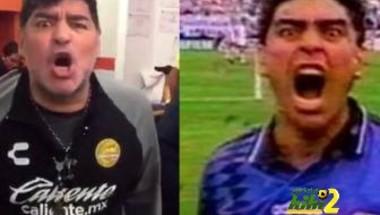 فيديو: مارادونا يعيد للاذهان احتفاله الشهير بمونديال 94