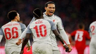 ليفربول يهزم بايرن بثلاثية ويتأهل لربع نهائي دوري الأبطال