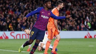 برشلونة يعلن مدة غياب ديمبلي بعد إصابته أمام ليون