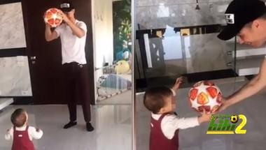 شاهد الحديث الذي دار بين كريستيانو وابنته حول كرة الهاتريك