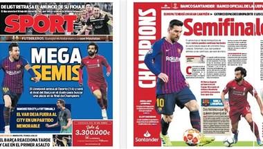 الصحف الإسبانية تتوقع نصف نهائي مثير بين ميسي وصلاح