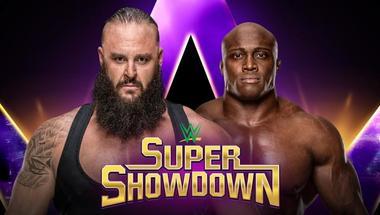 برون سترومان يواجه بوبي لاشلي في WWE SUPER SHOWDOWN