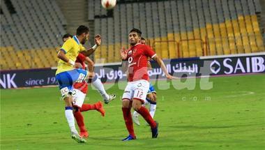 أيمن أشرف يواصل ارتداء القناع في مباراة الأهلي والإسماعيلي