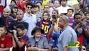 فيديو: أعلام برشلونة تغطي مدرجات ملعب نهائي كأس ملك إسبانيا
