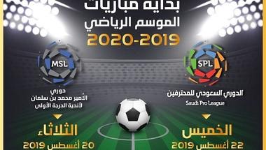 الدوري السعودي للمحترفين ينطلق 22 أغسطس
