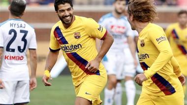 فيديو.. لويس سواريز يقود برشلونة لسحق نابولي برباعية في مباراة ودية