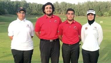 4 أشقاء يحملون آمال الإمارات في بطولة آسيا للغولف