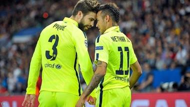 """بيكيه يرسل """"رسالة مبطنة"""" لنيمار بشأن انتقاله لبرشلونة"""