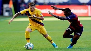 برشلونة يسقط في فخ التعادل أمام أوساسونا بالدوري الإسباني