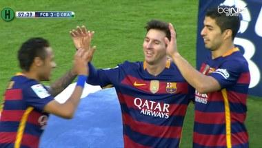 ملخص مباراة برشلونة و غرناطة 4-0 الدوري الإسباني موسم 2016 - بالجول
