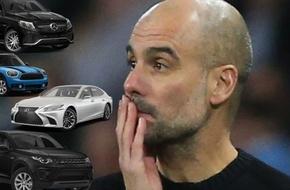 بالصور..غوارديولا يدمر 4 سيارات بقيمة 600 ألف دولار - الرياضة