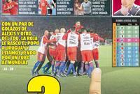 الصحافة التشيلية استخدمت مع قام به سواريز مع الجماهير في غلاف صفحتها
