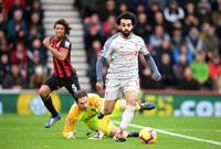 محمد صلاح أسرع لاعب في ليفربول يسجل في تاريخ البريميرليغ 40 هدف. سجلها من 52 مباراة