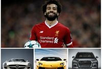 النجم محمد صلاح مع السيارات المفضله لديه