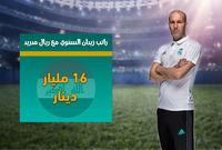 الراتب السنوي لزيدان مع ريال مدريد بعملات معظم الدول العربية