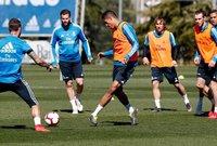 الظهور الأول لـ زيدان في تدريبات ريال مدريد عقب العودة لقيادة الفريق