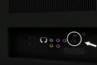توصيل الكابل الخاص بالهوائي في المدخل المخصص له بالشاشة اللي مكتوب عليه RF
