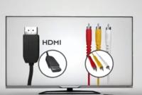 - وصل جهاز DVBT بالتلفزيون/ الشاشة عن طريق الكابل الثلاثي (الأحمر والأصفر والأبيض) أو عن طريق كابل HDMI
