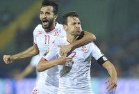 وأحرز أهداف تونس فرجاني ساسي في الدقيقة 52 ويوسف المساكني عزز من تقدم نسور قرطاج بالثاني في الدقيقة 60 من عمر المباراة.
